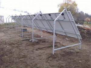 Petőfiszállás, Tanya, 3 kW napelemes rendszer, hátulnézet